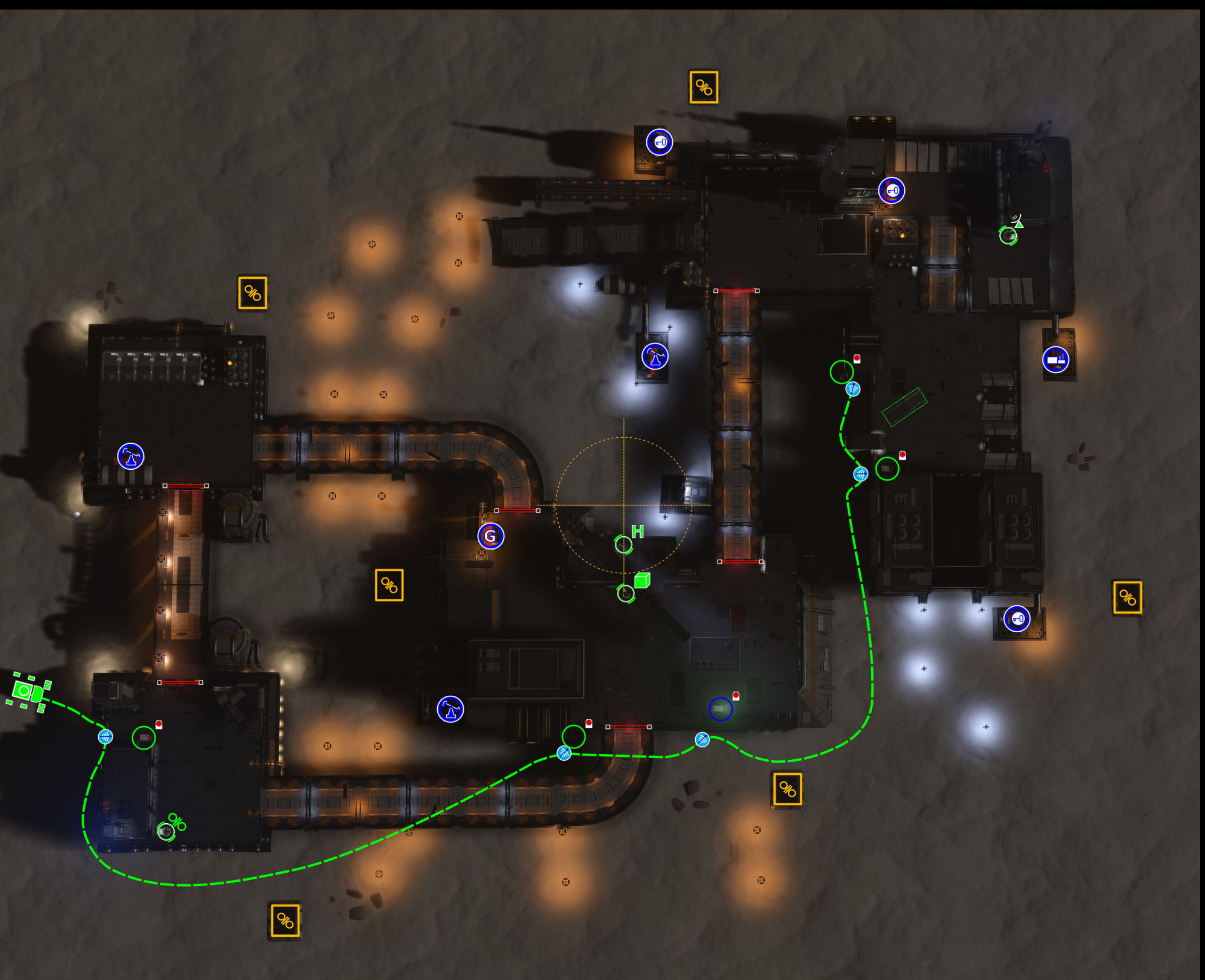 Path of settlement layout Medium Extraction Low Security