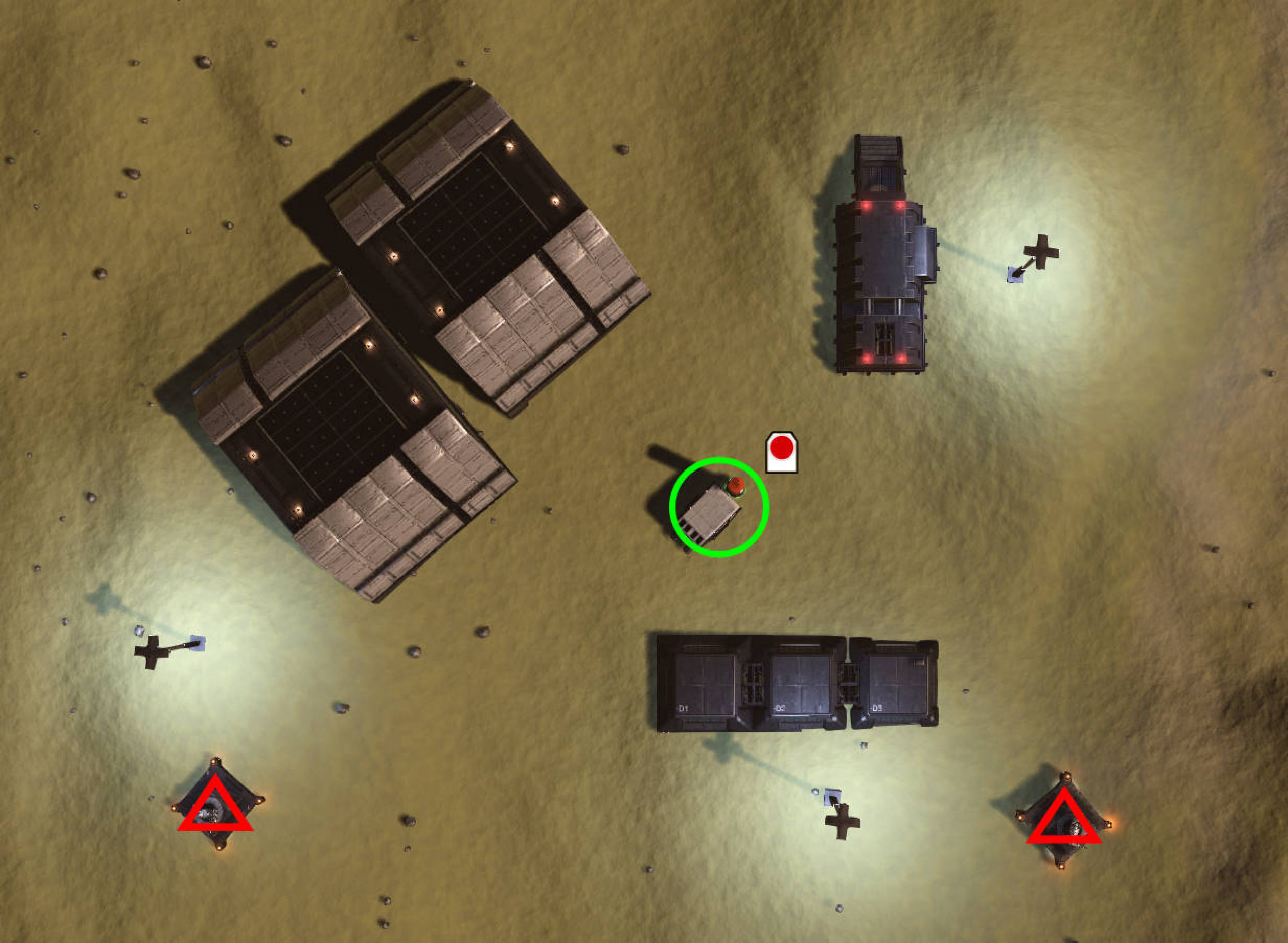 Overview of settlement layout Tiny Refuge Low Security