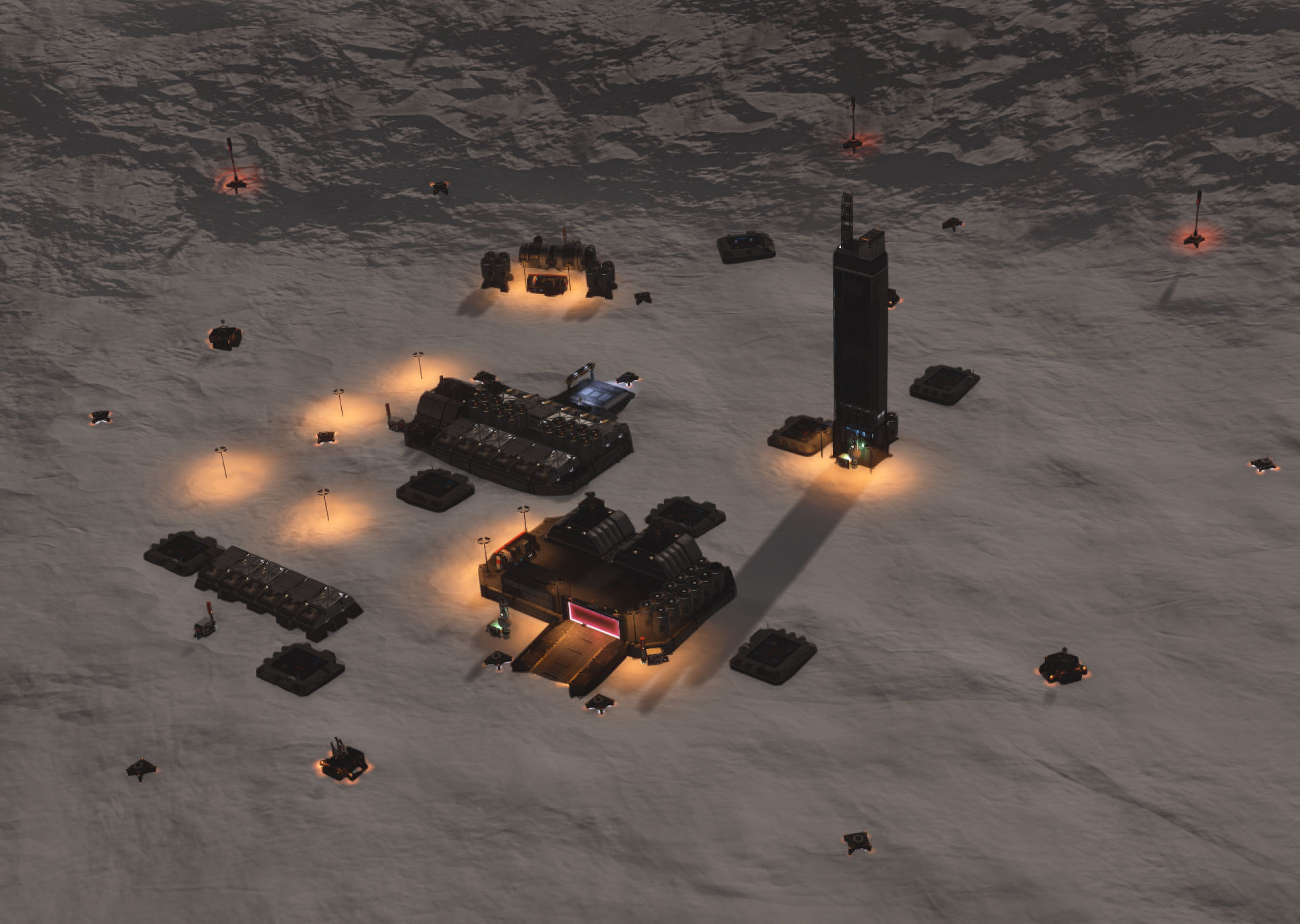Overview of settlement layout Small Outpost High Security