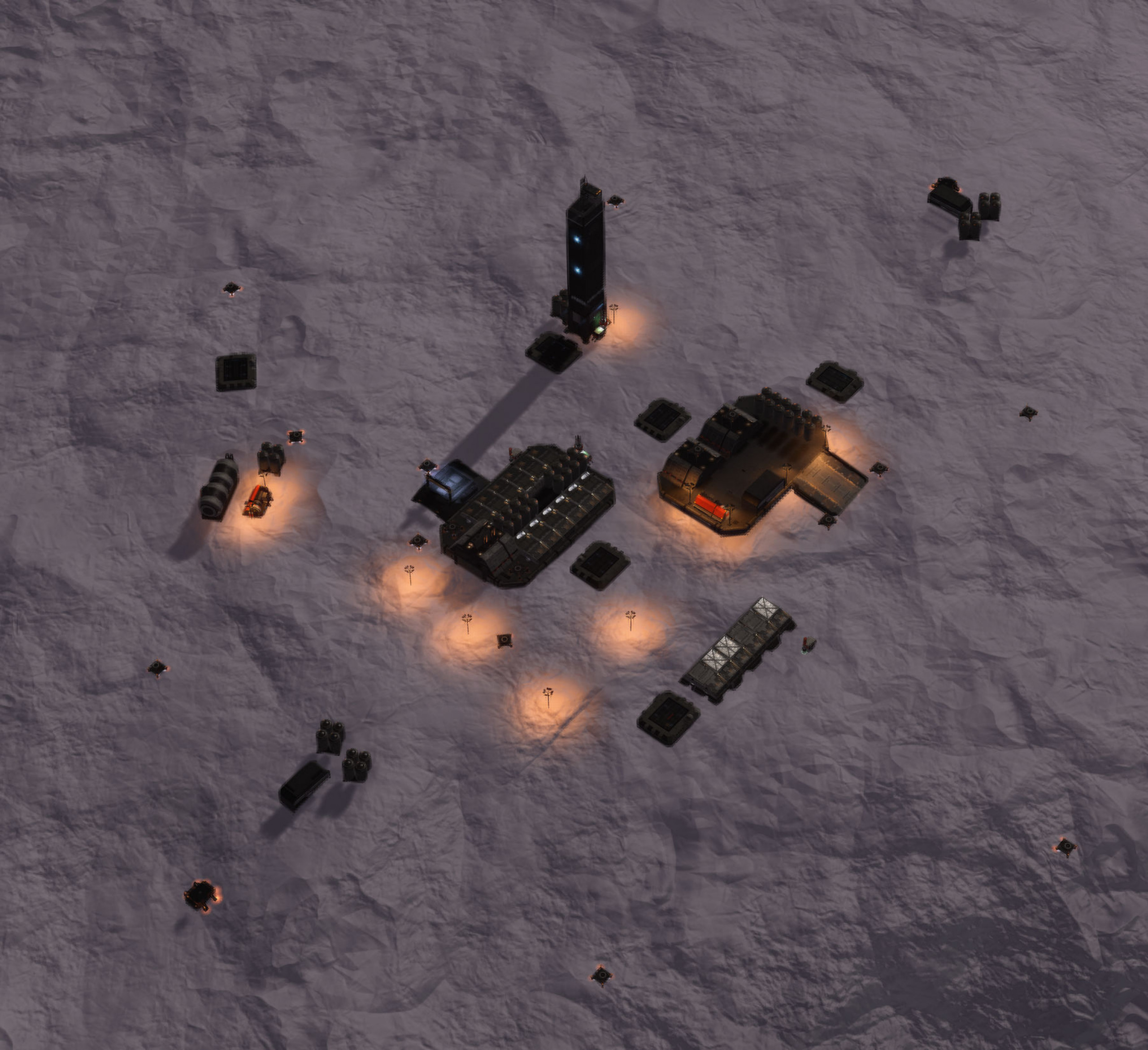 Overview of settlement layout Small Outpost Medium Security